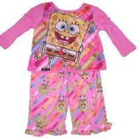 Spongebob Squarepants Infant Toddler Long Sleeve Pajamas
