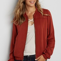 bomber jacket in rich rust | maurices