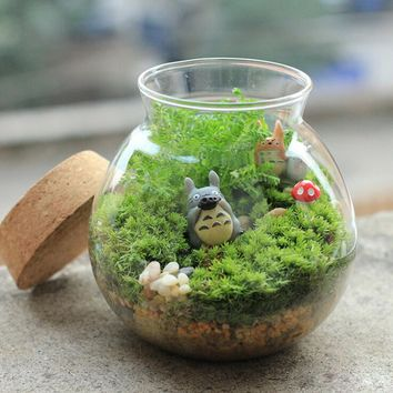 1PC Hot Fake Moss Miniature Garden Ornament DIY Mushroom Craft Pot Fairy Artificial Lawn Grass for Xmas Garden Decoration