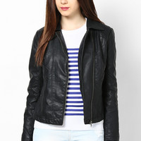 Biker Chic Black Pu Jacket