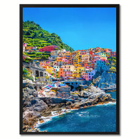 Cinque Terre Mediterranean Sea Italy Landscape Photo Canvas Print Pictures Frames Home Décor Wall Art Gifts