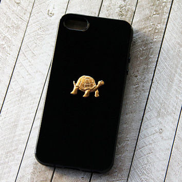 Turtle iPhone Case Animal Black iPhone 5 Case iPhone 5s Case Animal Galaxy Cover Gold Samsung Galaxy S3 Case Galaxy S4 iPhone 6 Black Cute