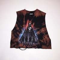 Star Wars Storm Troopers Bleached and Distressed Crop Top Tank