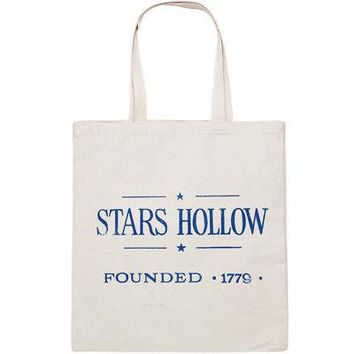 Gilmore Girls Stars Hollow Founded 1779 Canvas Tote Bag - Natural Beige