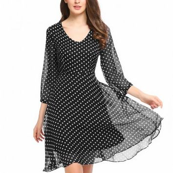Polka Dot Fever Fit And Flare Dress