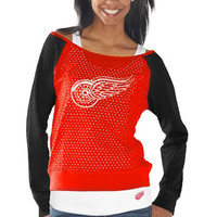 Detroit Red Wings Womens Holy Long Sleeve T-Shirt and Tank Top - Red/Black