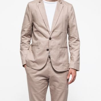 General Assembly Khaki Washed Twill Blazer