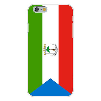 Apple iPhone 6 Custom Case White Plastic Snap On - Equatorial Guinea - World Country National Flags