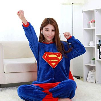 Superman Batman Spiderman Iron Man Adult Onesuit Superhero Pajamas Unisex Pyjamas Captain America Cosplay Costume
