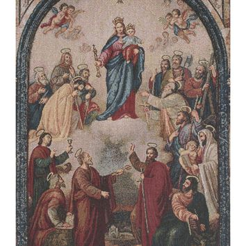 Our Lady of Help Tapestry Wall Hanging
