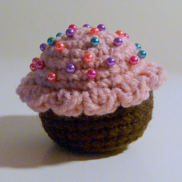Crochet Cupcake Toy or Pincushion PDF Crochet Pattern INSTANT DOWNLOAD