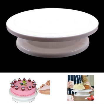 Cake Swivel Plate Revolving Cake Sugarcraft Turntable Decoration Stand Platform turntable Baking Cake Tools EJ870264