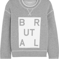 Richard Nicoll - Brutal printed cotton-jersey sweatshirt