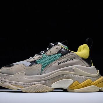 2017 PARIS Balenciaga Retro BL Triple S Sneakers for men women Kanye West Old Grandpa Trainers Running shoes Professional Sneaker fashion shoe outdoor boots