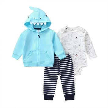 Baby Boy's 3pc Shark Outfit
