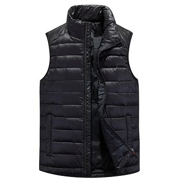 2016 Winter High Quality Man Clothes Men Down Jacket Warm Coat Vest 95% Grey Duck Down Free Shipping