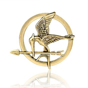 Laugh at the bird pin Popular Vintage Style Birds Brooches The Hunger Games Fans' gifts men jewerly B-0754