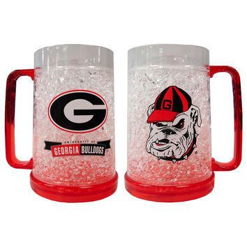 Ncaa 16Oz Crystal Freezer Mug - University of Georgia Bulldogs