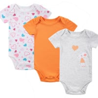 BABY BODYSUITS 3PCS 100%Cotton