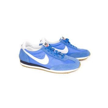 NIKE oceania retro blue suede sneakers - womens athletic shoes - 307165-400 - nikes si