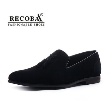 Men summer casual shoes plus size 11 12 black velvet suede leather tassel penny loafers moccasins slip ons wedding dress shoes