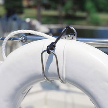 Stainless Steel Horseshoe Lifebuoy Bracket Life Buoys Ring Holder