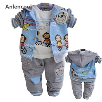 Anlencool Free shipping  Kids' monkey suit boys sport casual wear