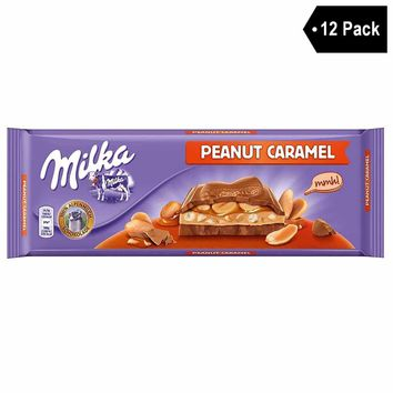 12 Pack Milka Peanut and Caramel