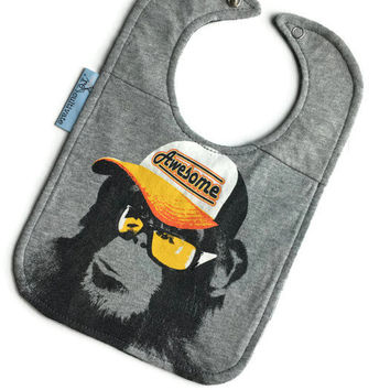 Awesome Monkey Bib Baby Shower Gift