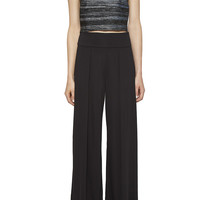 Jacquard Sleeveless Crop Top