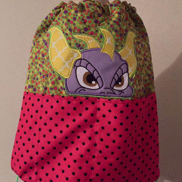 Spyro The Dragon Drawstring Back Pack