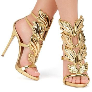 Gold Leaf Gladiator Sandal