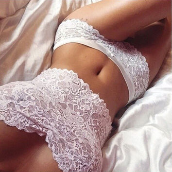 Sexy Hollow Out Lace Bra Lingerie Underwear Set 2 Peice Gift