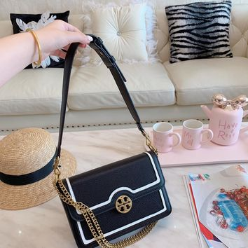 Tory burch Popular Classic Women Shopping Bag Leather Tote Handbag Shoulder Bag Zipper Purse Wallet And Key Pouch-Coin Purse