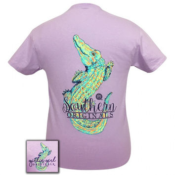 Girlie Girl Originals Preppy Watercolor Alligator T-Shirt