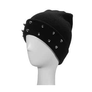 Beanie Hat with Pyramids Detail