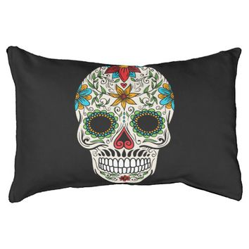 Day of the Dead Sugar Skull Small Dog Bed