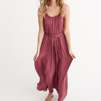 Womens Satin Maxi Dress | Womens Dresses & Rompers | Abercrombie.com