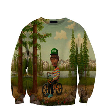 Tyler Wolf Album Sweatshirt Crewneck Fan Art All Over Style Print Sweatshirt