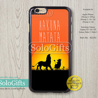 Hakuna Matata Disney, iPhone 6 case, iPhone 6 Plus case, Lion King, iPhone 5 case, iPhone 5S Case, Galaxy S5 S4 S3 Note 2 Note 3, A0246