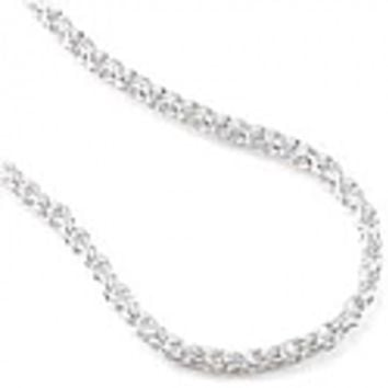 80 mm, 17 inches long Sterling Silver Rope Chain