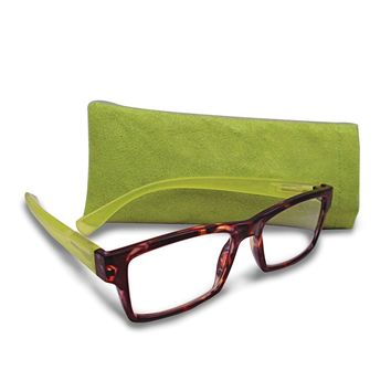 Tortoise And Green 2.25 Magnification Reading Glasses