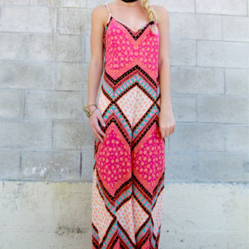MINKPINK African Trance Print Jumpsuit