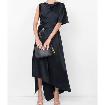 Christopher Kane Crystal Satin Dress - Black Glass Dress