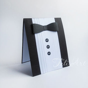 Will You Be My Groomsman? Wedding Card, Best Man Card, Groomsman Card, Men's Suit Card, Birthday Card for Men,  Wedding Party Card