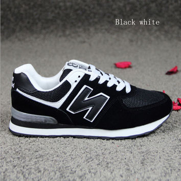 """New balance""Running shoes leisure shoes gump sneakers lovers shoes n words Black white"