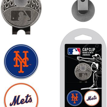 MLB New York Mets Hat Clip & 2 Magnetic Golf Ball Markers