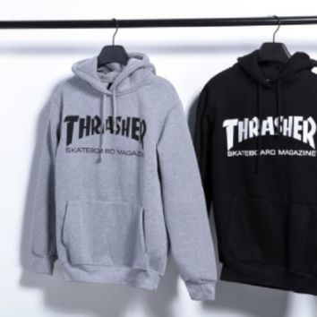 THRASHER flame word sweater men and women long-sleeved jacket sweatshirts
