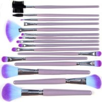 KingMas 16 Pcs Professional Makeup Cosmetic Brush Set Kit With Pouch Bag Case Purple