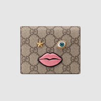 Gucci Card case with embroidered face
